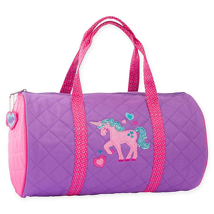 Alternate image 1 for Stephen Joseph® Unicorn Quilted Duffle in Purple