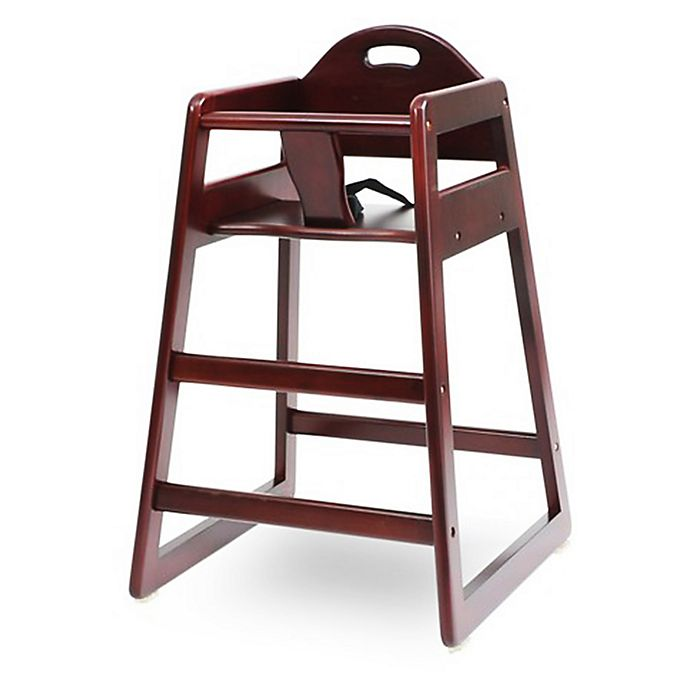 Alternate image 1 for LA Baby® Solid Wood High Chair in Cherry