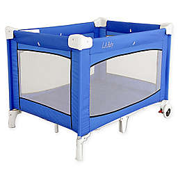 LA Baby® Portable Playard with Wheels in Blue