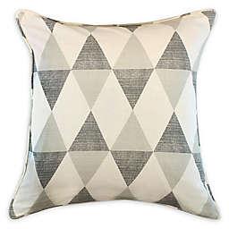 American Colors Tonal Diamond Square Throw Pillow in Grey