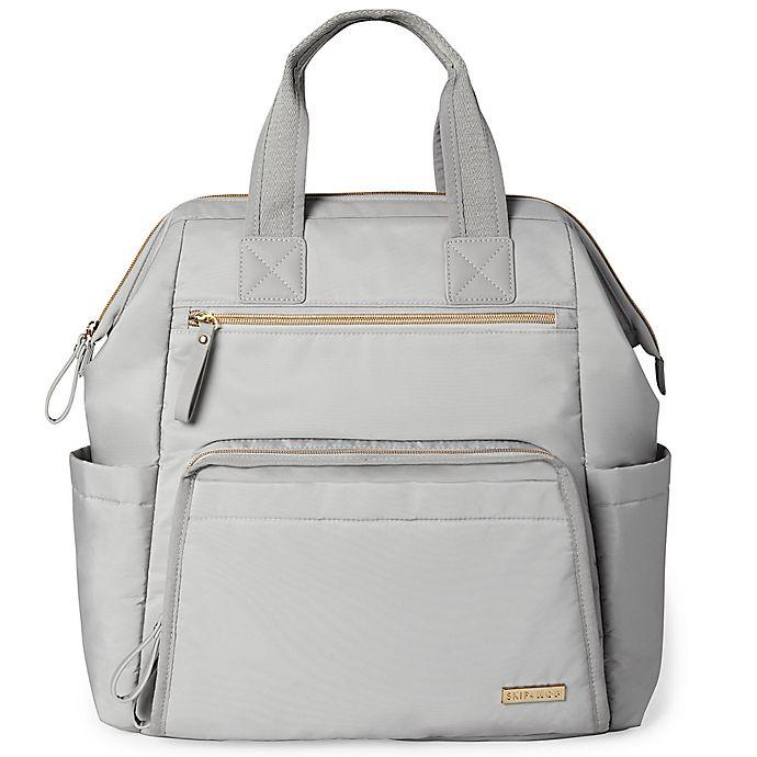 Alternate image 1 for SKIP*HOP® Mainframe Wide Open Backpack Diaper Bag in Grey