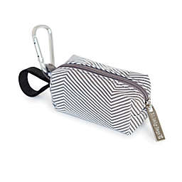 Oh Baby Bags Diaper Bag Clip-On Dispenser with Disposable Bags for Messes in Mini Stripe