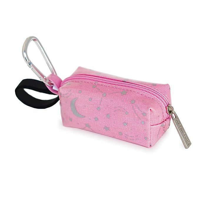 Alternate image 1 for Oh Baby Bags Clip-On Stars Wet Bag Dispenser in Pink