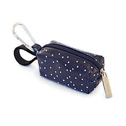 Oh Baby Bags Clip-On Dot Wet Bag Dispenser in Navy/White