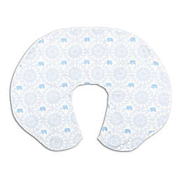 The PeanutShell™ Lil Peanut Nursing Pillow with Cover in White/Blue