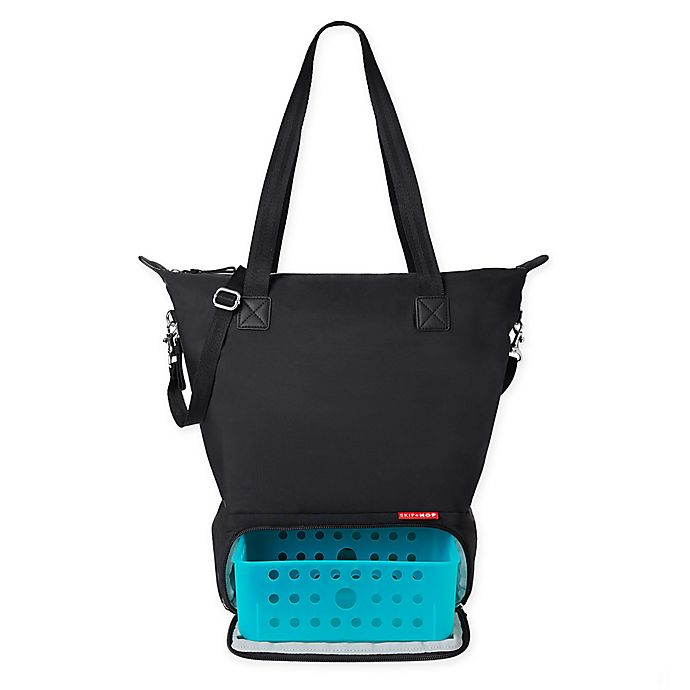 Alternate image 1 for SKIP*HOP® Tray Chic Dry & Store Pump Bag in Black