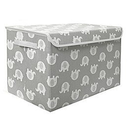 Taylor Madison Designs® Elephant Medium Toy Chest in Grey/White
