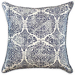 American Colors Brand Textured Damask Square Throw Pillow