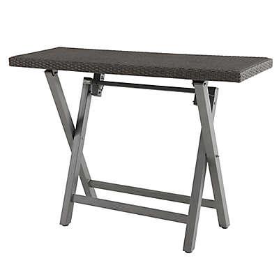 Barrington Outdoor Wicker Folding Buffet Patio Table