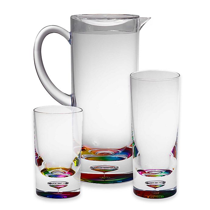 Alternate image 1 for Destination Summer Bubble Bottom Drinkware Collection in Rainbow