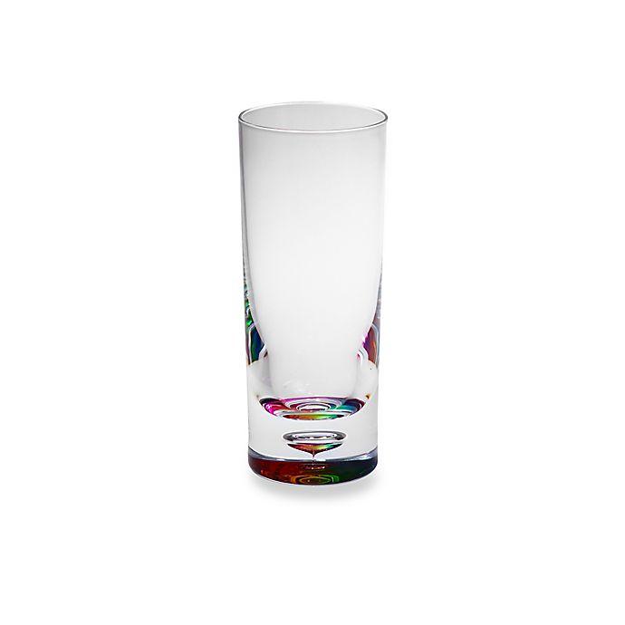Alternate image 1 for Bubble Bottom Highball Glass in Rainbow