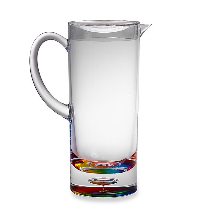 Alternate image 1 for Bubble Bottom Pitcher in Rainbow