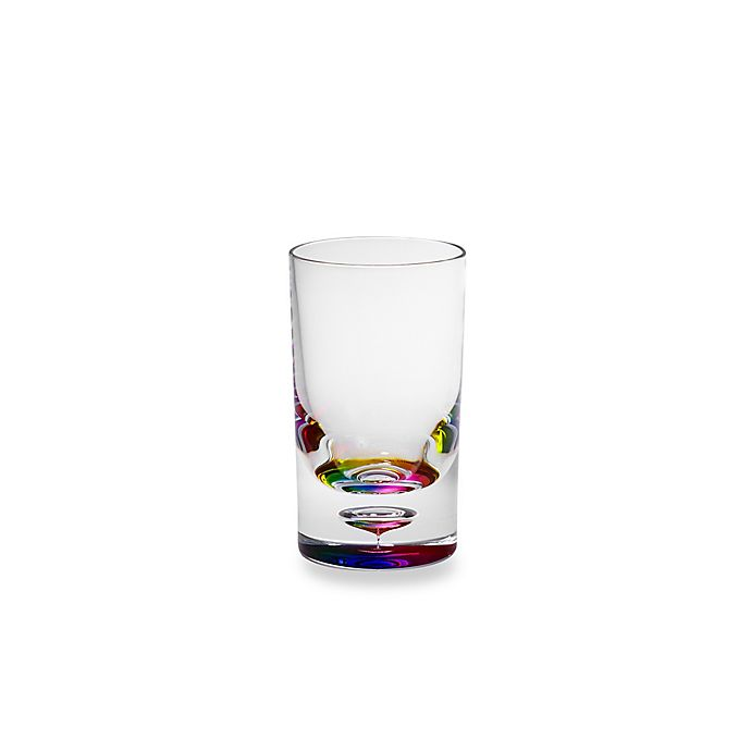 Alternate image 1 for Destination Summer Bubble Bottom Double Old Fashioned Glass in Rainbow