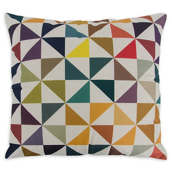 Alternate image 1 for Varaluz Casa Colorful Triangles Square Throw Pillow in Multi