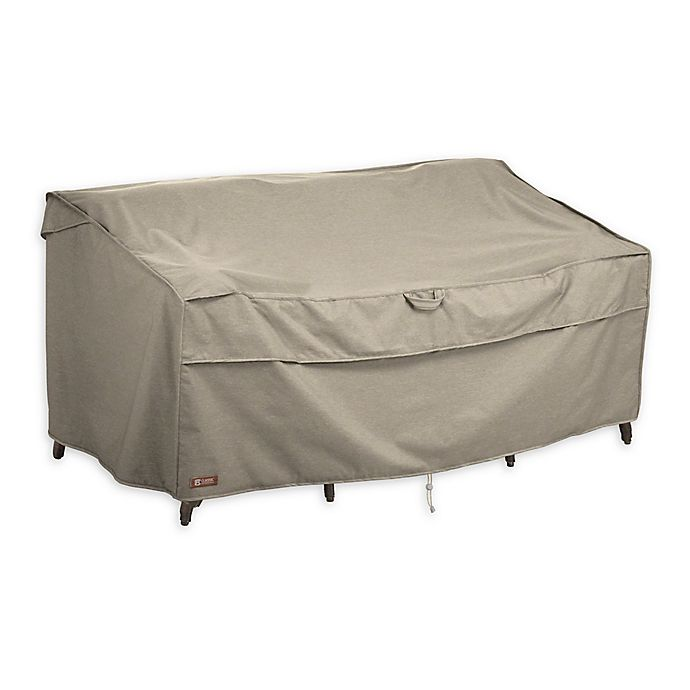 Alternate image 1 for Classic Accessories® Montlake™ FadeSafe® Outdoor Large Deep Sofa Cover in Grey