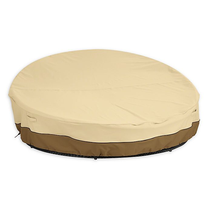 Alternate image 1 for Classic Accessories® Veranda Round Outdoor Daybed Cover in Grey