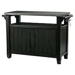 Keter Unity Outdoor Prep Table in Graphite