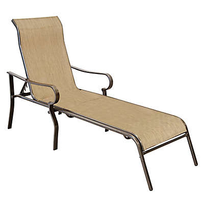 Never Rust Aluminum Chaise Lounge in Bronze