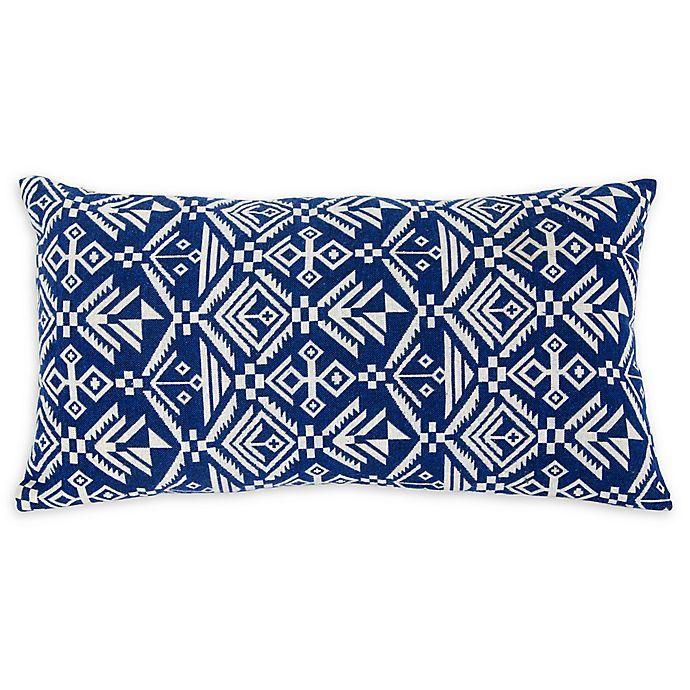 Alternate image 1 for Varaluz Casa Tribal Lumbar Throw Pillow in Blue