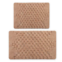 "Castlehill Melange 2-Piece 21"" x 34"" and 24"" x 40"" Bath Rugs in Natural"