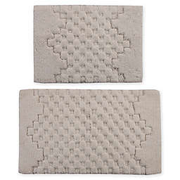 "Castlehill Melange 2-Piece 20"" x 30"" and 24"" x 40"" Bath Rug Set in Ivory"