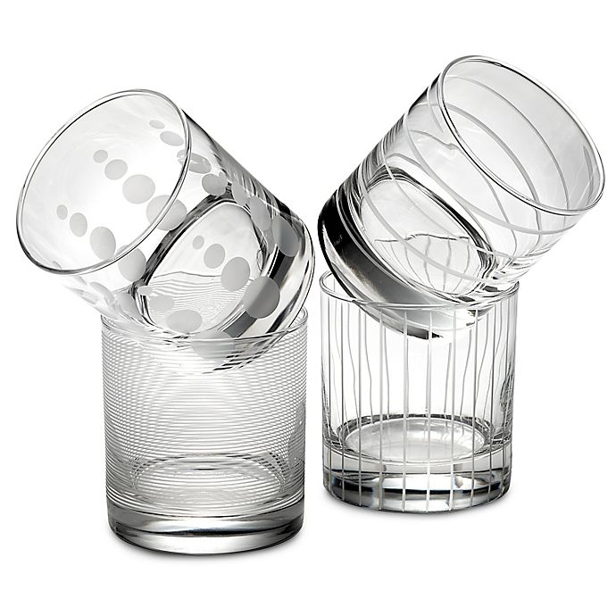 Alternate image 1 for Mikasa® Cheers Double Old Fashioned Glasses (Set of 4)