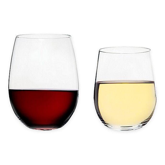 Alternate image 1 for Riedel® O Cabernet/Merlot + Viognier/Chardonnay Stemless Wine Glasses Buy 6 Get 8 Value Set