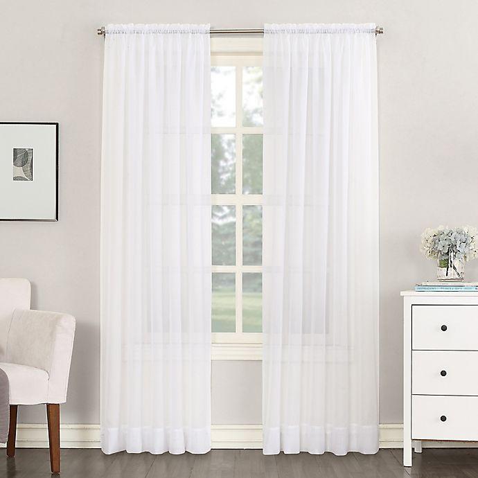 Alternate image 1 for Emily 54-Inch Rod Pocket Sheer Window Curtain Panel in White