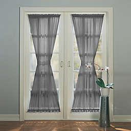 No.918® Emily 72-Inch Rod Pocket Sheer Door Panel in Charcoal (Single)
