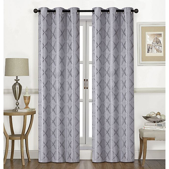 Alternate image 1 for Chandler 84-Inch Grommet Window Curtain Panel Pair in Silver