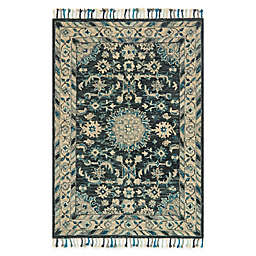 Loloi Rugs Zharah Handcrafted Rug in Teal/Grey