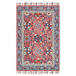 Loloi Rugs Zharah Handcrafted Rug in Rose/Denim