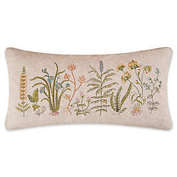C&F Enterprises, Inc Aneesa Embroidered Floral Oblong Throw Pillow in Green
