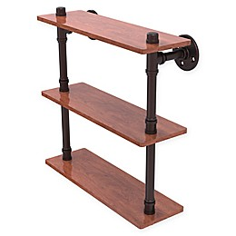 Allied Brass Pipeline Collection Ironwood Triple Shelf