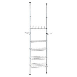 Apollon 3-Shelf Shoe Storage System in Grey/Black