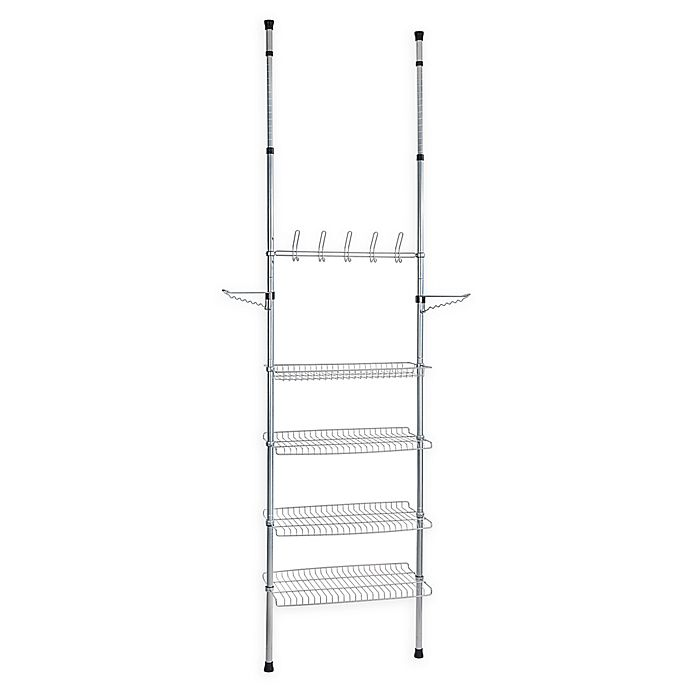 Alternate image 1 for Apollon 3-Shelf Shoe Storage System in Grey/Black