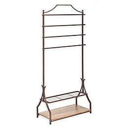 Metal 72-inch x 33-Inch Floor Garment Rack in Bronze