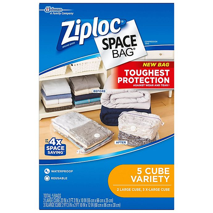 Alternate image 1 for Ziploc® Space Bag® Storage Bags (Set of 5)