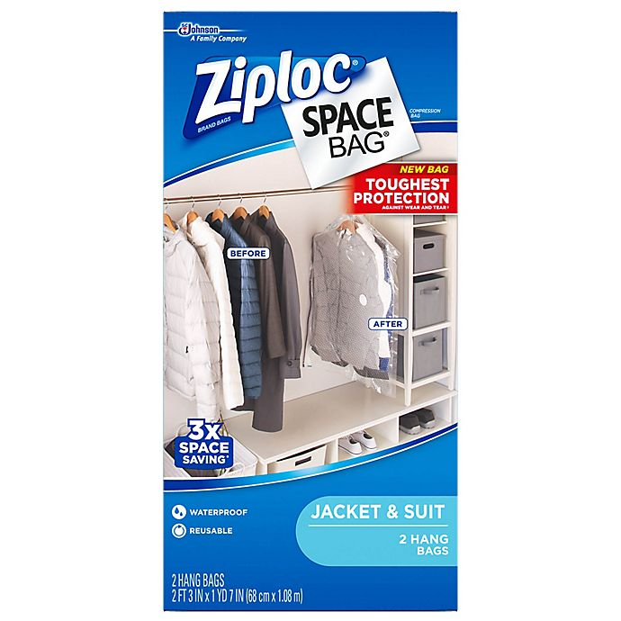 Alternate image 1 for Ziploc® Space Bag® Hanging Straight Storage Bags (2-Pack)