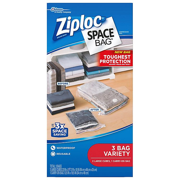 Alternate image 1 for Ziploc® Space Bag® Travel Cube and carryon Bags (3-Pack)