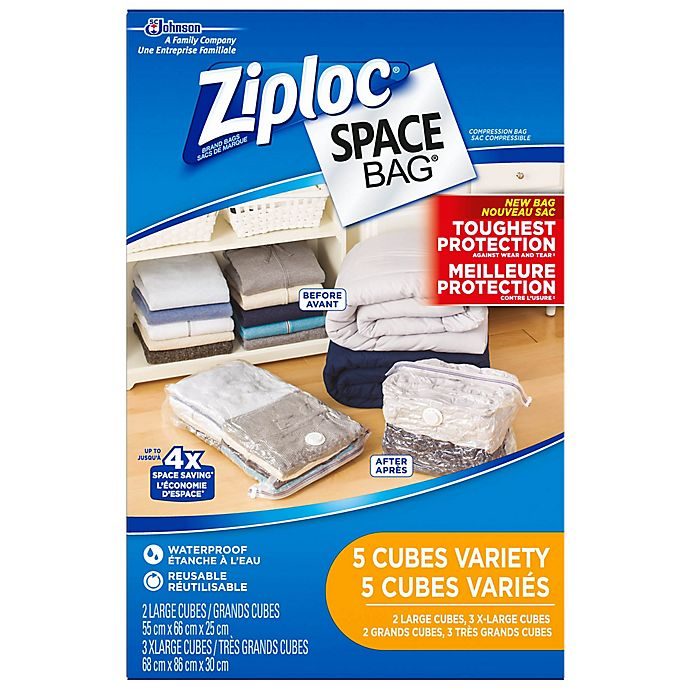 Alternate image 1 for Ziploc® Space Bag® 5-Piece Canada Set