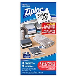 Ziploc® Space Bag® 3-Piece Variety Tough Travel Canada Set