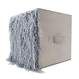 Home Basics® Faux Fur Storage Bin