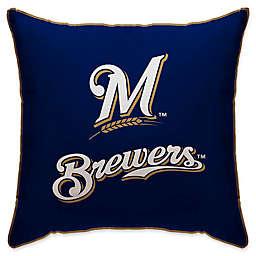 MLB Milwaukee Brewers Logo Throw Pillow