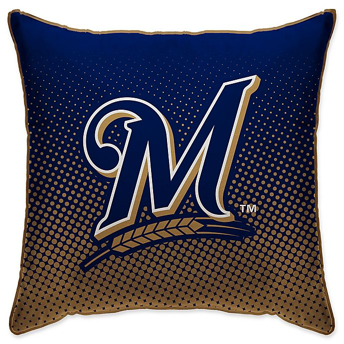 Mlb Milwaukee Brewers Dots Throw Pillow Bed Bath Amp Beyond