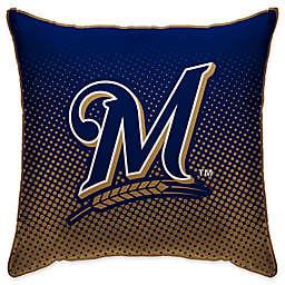 MLB Milwaukee Brewers Dots Throw Pillow