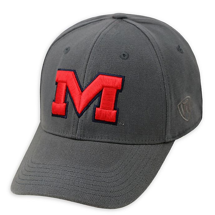 Alternate image 1 for University Of Mississippi Premium Memory Fit™ 1Fit™ Hat in Charcoal