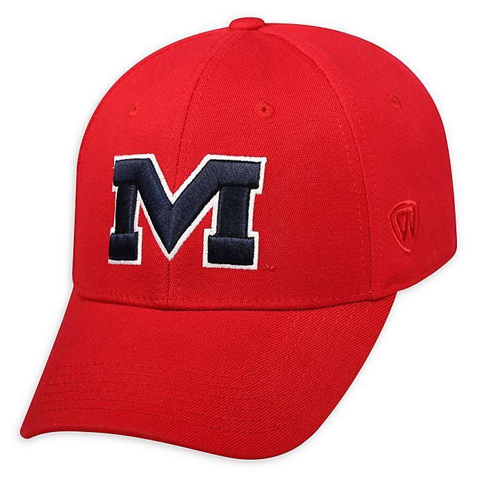 Alternate image 1 for University Of Mississippi Premium Memory Fit™ 1Fit™ Hat in Red