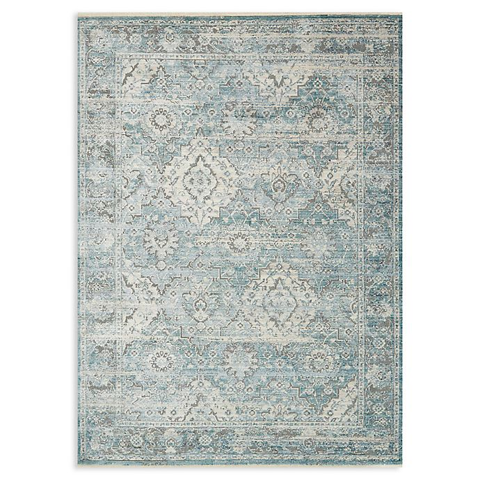 Alternate image 1 for Magnolia Home by Joanna Gaines Ophelia 2' x 3'4 Accent Rug in Aqua/Grey