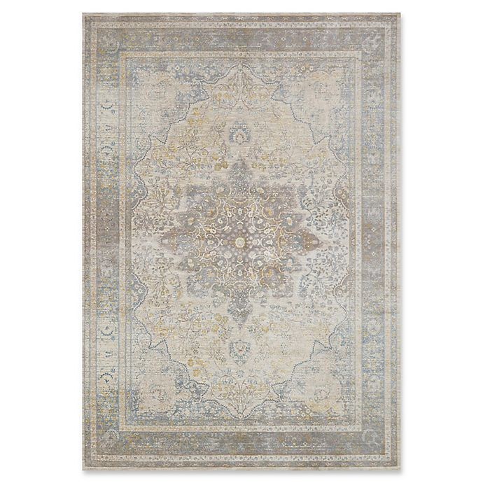 Alternate image 1 for Magnolia Home by Joanna Gaines Ella Rose 9'3 Round Area Rug in Stone/Blue